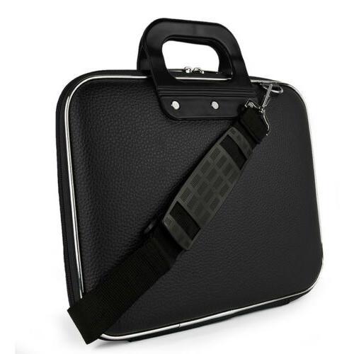 leather laptop shoulder bag case for 13