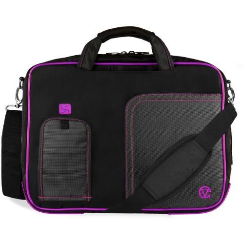 pindar purple trim laptop bag