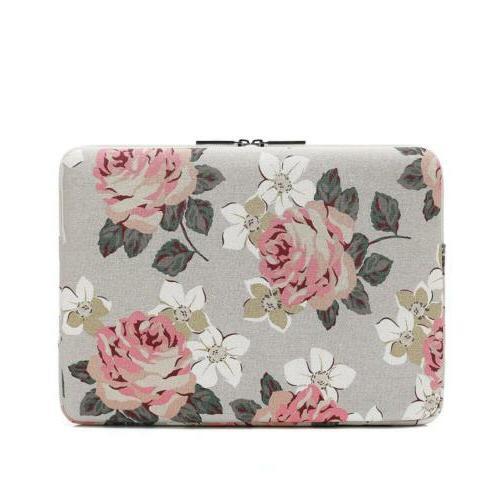 Canvaslife Pink Rose Laptop Sleeve Case Bag