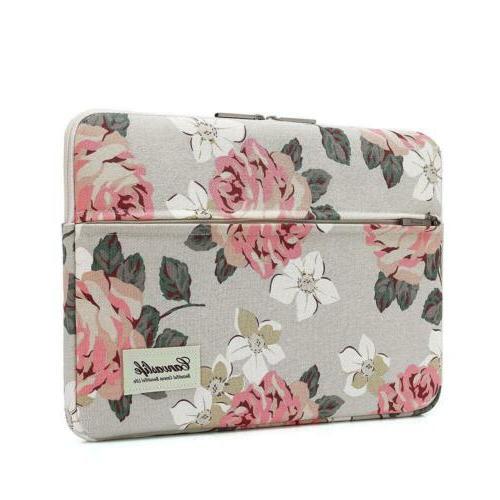 pink rose patten laptop sleeve 14 inch