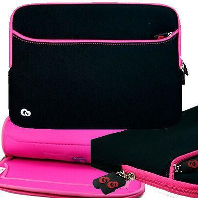 pink soft neoprene sleeve pocket case
