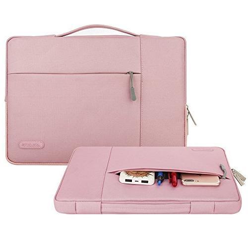 MOSISO Briefcase Handbag MacBook Notebook Polyester Case Pink