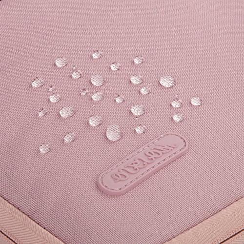 MOSISO Laptop Sleeve Handbag Compatible MacBook Polyester Case Protective Bag Cover, Pink