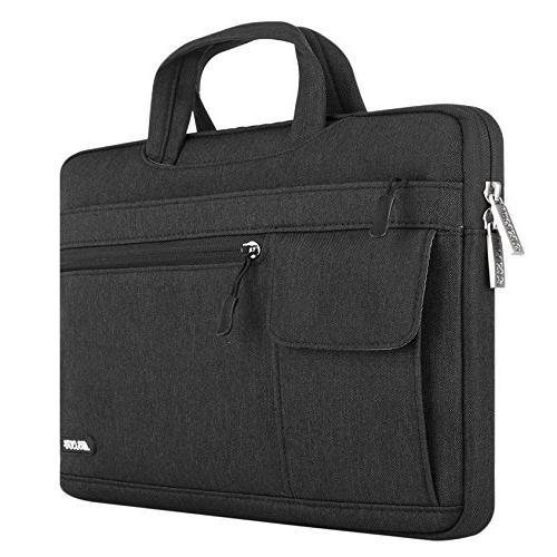 MOSISO Laptop Bag Compatible 15-15.6 Inch Pro Retina, Dell Chromebook Flapover Handbag Sleeve Case,