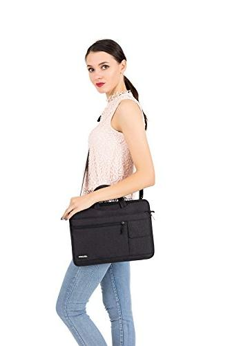 MOSISO Laptop Shoulder Bag Compatible Inch MacBook Pro Retina, MacBook Dell Lenovo Chromebook Flapover Sleeve Case,