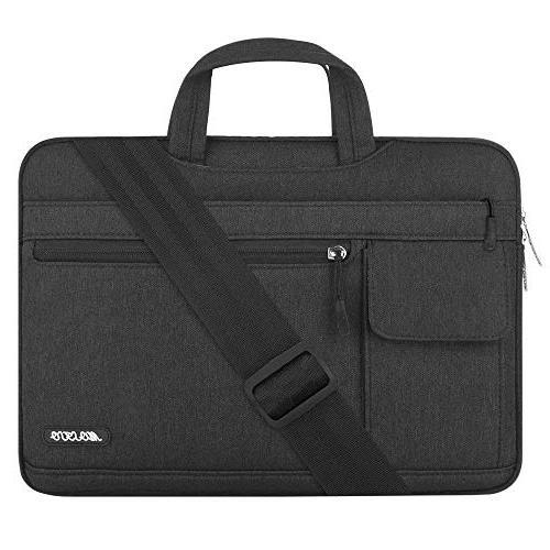 polyester flapover laptop messenger shoulder