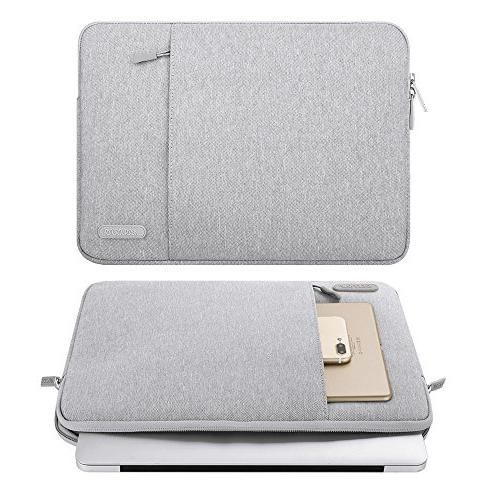 MOSISO Polyester Water Repellent Case Pocket MacBook Pro, MacBook Notebook, Gray