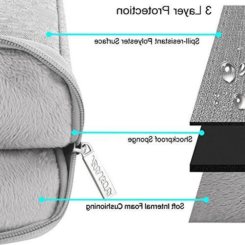 MOSISO Vertical Water Repellent Case Pocket Compatible Inch MacBook Pro, Air, Notebook,