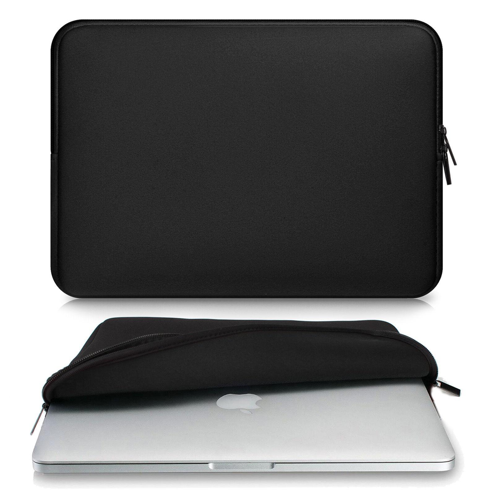 BLACK Zipper Sleeve Bag Case Cover for All Laptop 13-15.4''