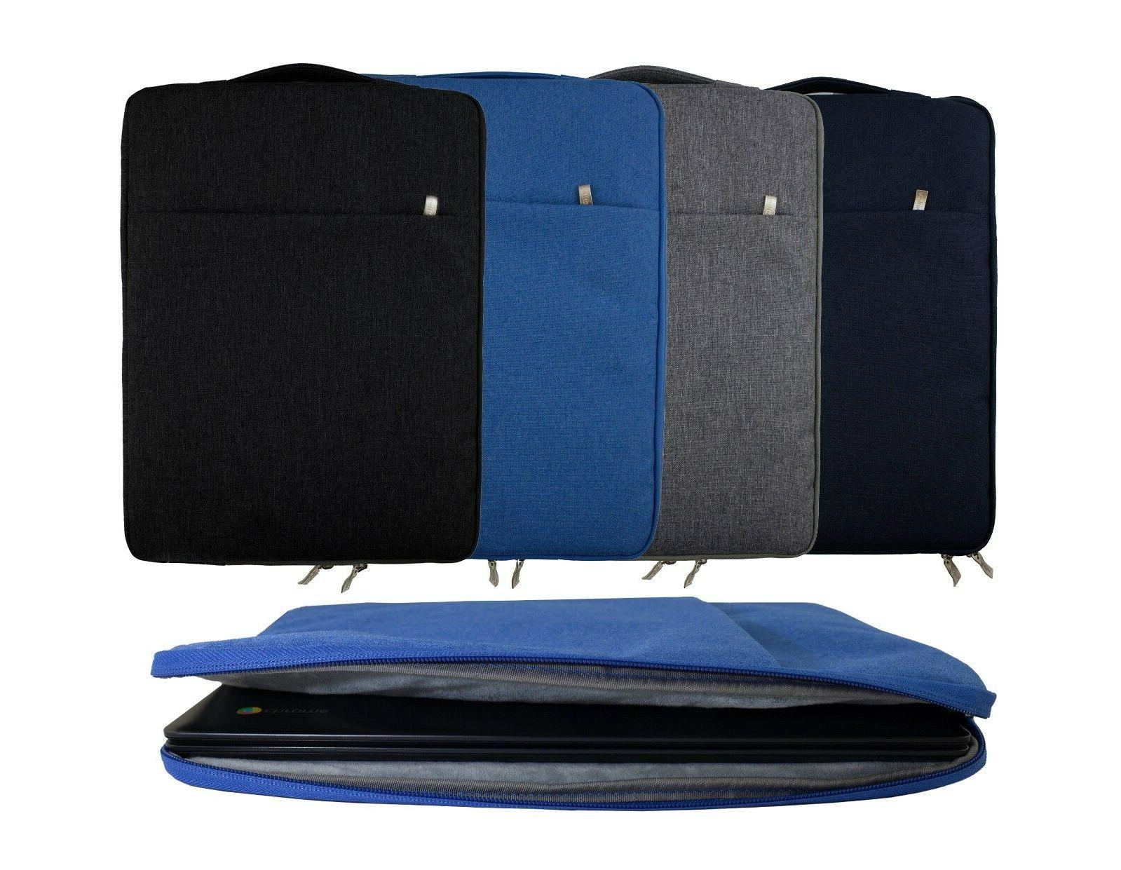 Premium Fabric Tablet Laptop Sleeve Case Fits Dell Inspiron