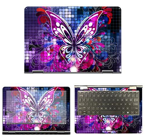protective decal butterfly skin sticker for hp