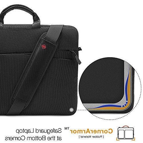 tomtoc 15.6 Slim Laptop Shoulder for 15-15.6 Acer Lenovo Chromebook 360° Travel & Accessory Women Men