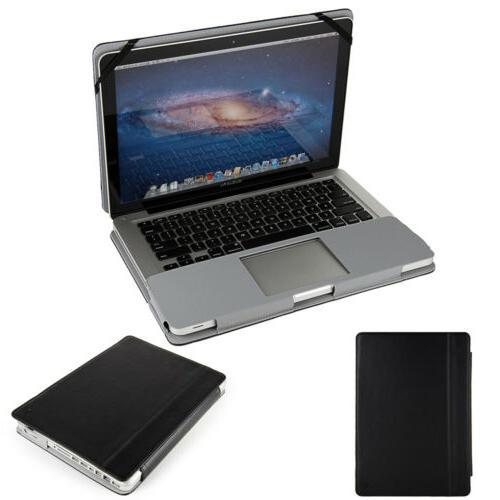 pu leather laptop folio sleeve case book