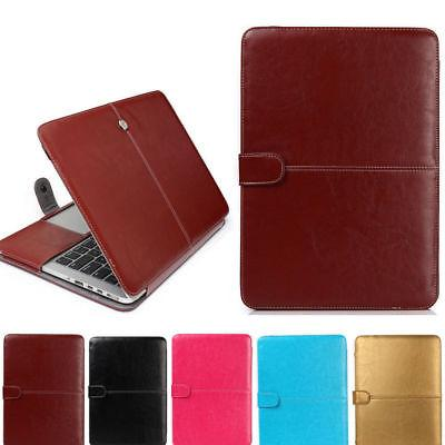 PU Leather Magnetic Laptop Case Bag For Apple Macbook Air Pr