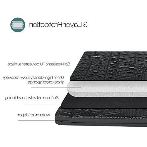 TOMANTEK PU Slow-recovery Shockproof & Water-resistant Sleeve Tablet Bag Case/Skin Black