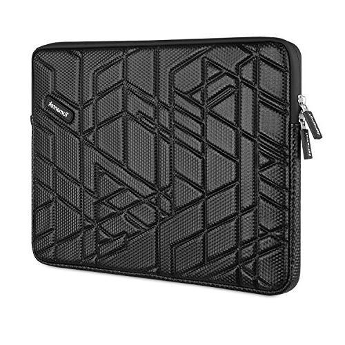 TOMANTEK PU Slow-recovery Shockproof Water-resistant Sleeve Laptop Black