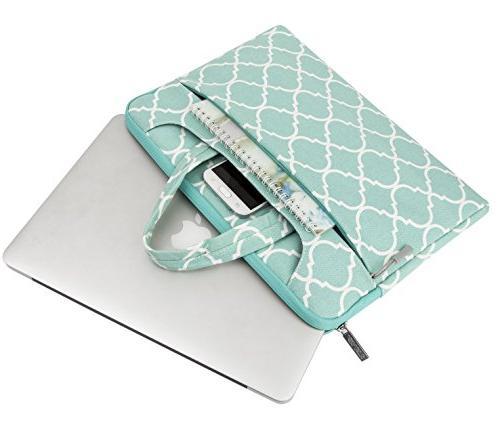MOSISO Laptop Bag Compatible MacBook Pro, Ultrabook Quatrefoil Carrying Handbag Cover, Hot