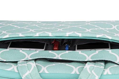 MOSISO Compatible 15-15.6 Pro, Ultrabook Tablet, Quatrefoil Canvas Protective Carrying Handbag Sleeve Cover,