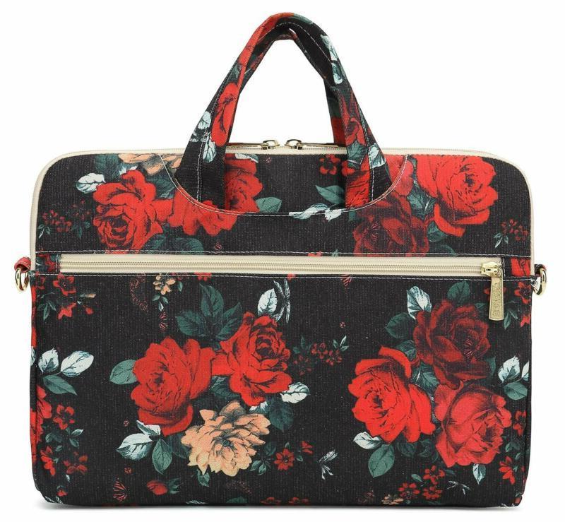 Dachee Rose Waterproof Laptop Shoulder Messenger Bag Case Sleeve for