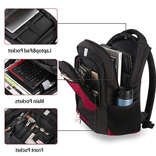 RFID Backpack, Travel Laptop Port, Anti-Theft College Rucksack Resistant Computer for Men 15.6 Inch