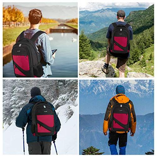 Laptop Backpack Charger Port, College Rucksack Water Resistant Bag for 15.6 Inch