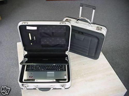 rolling laptop aluminum and eva computer case