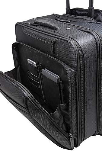 Alpine Rolling Laptop Briefcase Wheeled on Bag Up to 15.6 Carries