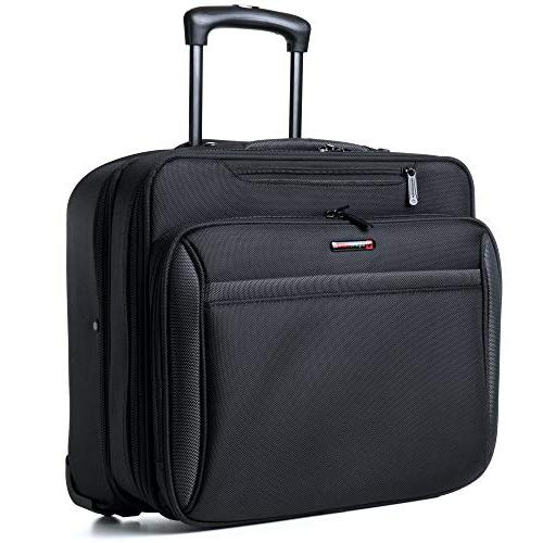 Alpine Swiss Rolling Laptop Briefcase on Bag Up 15.6 Carries Legal