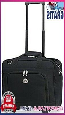 rolling laptop case 17 inch wheeled briefcase