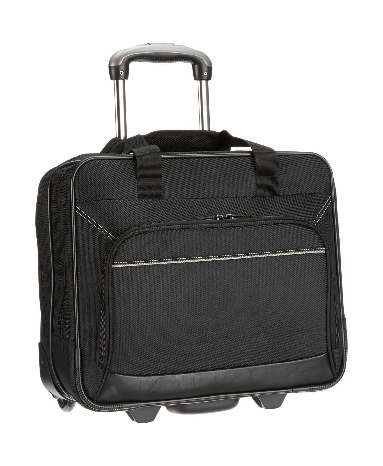 rolling laptop case black