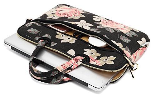 kayond Rose Canvas Fabric 14.1 inch Shoulder Bag