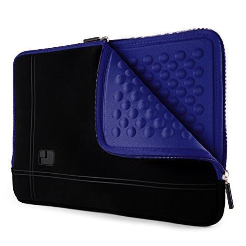 shock absorbing navy blue laptop