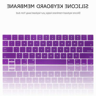 Shockproof Rubberized Case + Keyboard For Macbook 13""