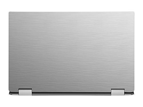 Silver Brushed Aluminum decal wrap for Dell XPS 9365 Convertible 13.3""