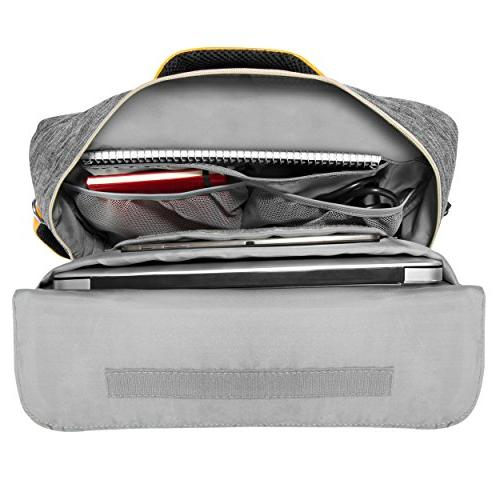 VanGoddy Slate Gray Convertible Laptop Bag for to 15.6-inch Dell Inspiron, Precision, Vostro, Gaming, Alienware m15