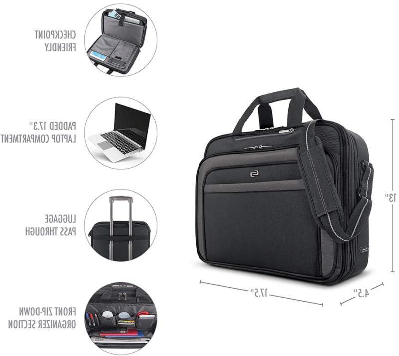 Solo Laptop TSA Black/Grey