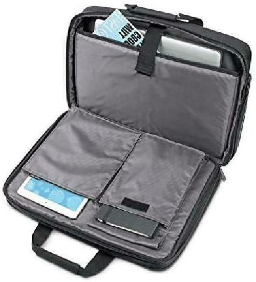 Solo Empire Laptop Briefcase, TSA Black/Grey