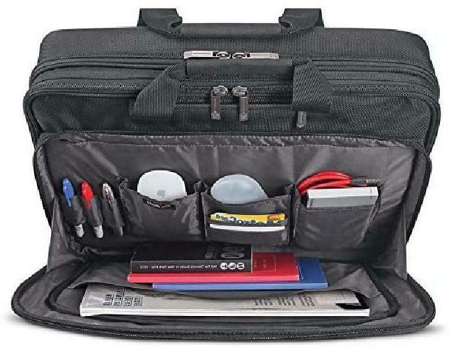 Solo Empire Laptop Briefcase, Friendly, Black/Grey