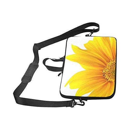 InterestPrint Sunflower Yellow Summer Flower Laptop Shoulder Bag with Strap Thinkpad Man
