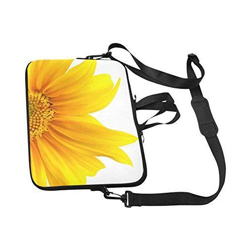 InterestPrint Sunflower Flourishing Yellow Summer Neoprene Bag Handle & Strap for Dell Thinkpad