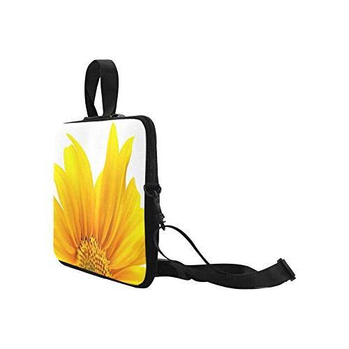InterestPrint Yellow Waterproof Neoprene 17.3 Laptop Sleeve Case Shoulder Bag Handle Strap for Dell HP Thinkpad Tablet Woman Man