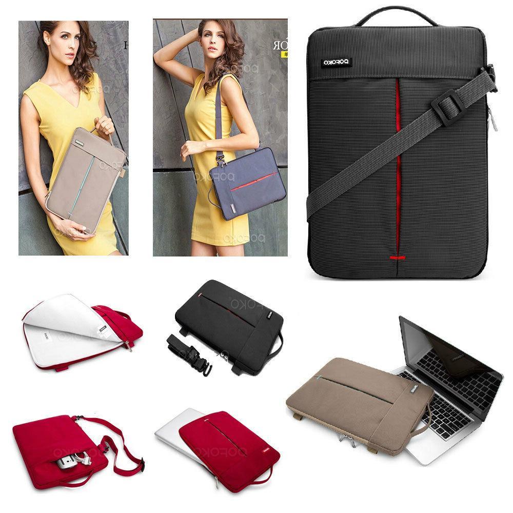 tablet laptop sleeve carry case shoulder messenger