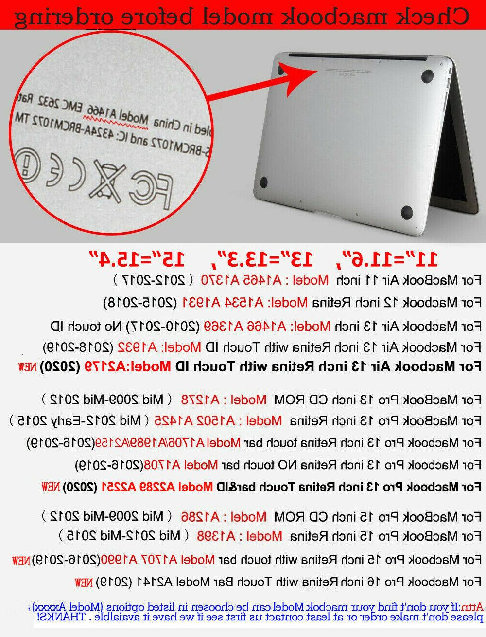 """Laptop Hard Shell Case Cover Pro Air 13"""" 15"""" 16"""" 2014-2020"""