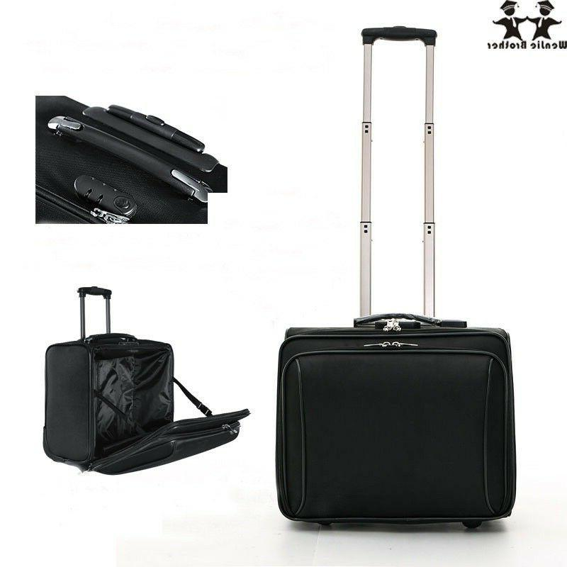 Travel Luggage Bag Wheeled Briefcase Carry Computer