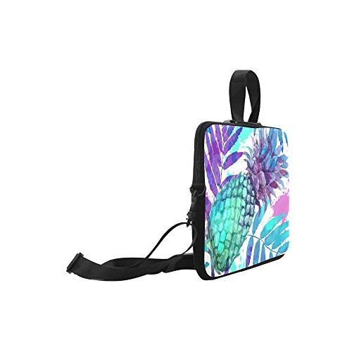 InterestPrint Tropical Beach Laptop Case Bag, Pineapple Strap Sleeve 15-15.6 Inch for Pro HP Lenovo Acer
