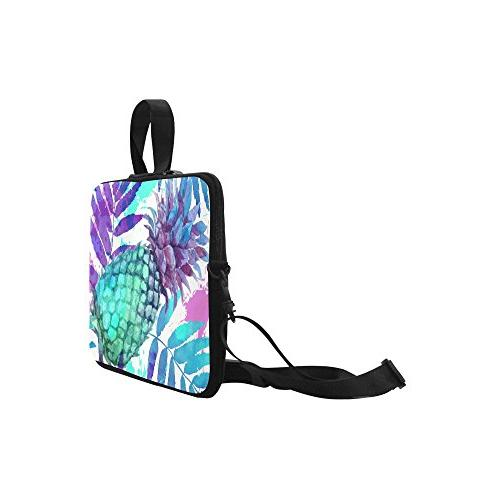 InterestPrint Tropical Beach Laptop Sleeve Case Pineapple Shoulder Strap Sleeve 15-15.6 Pro Air Dell HP Lenovo Thinkpad Ultrabook