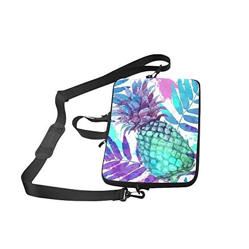 InterestPrint Tropical Laptop Sleeve Case Bag, Pineapple Strap Sleeve Notebook 15-15.6 Pro Lenovo Thinkpad Acer