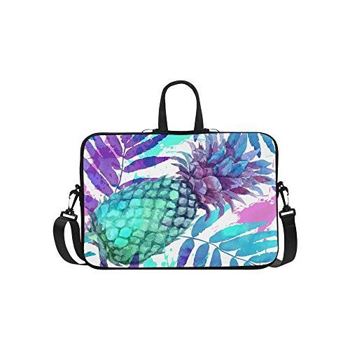 tropical beach pineapple laptop sleeve