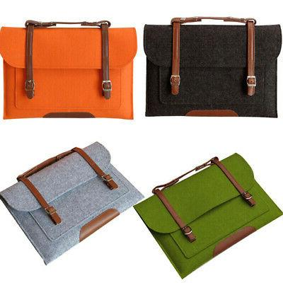 Universal With Felt Laptop Bag Protective Cover Pouch