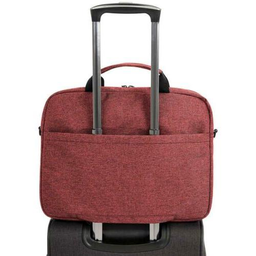 "AmazonBasics Tablet Case Bag Maroon 16.25x11.5x0.75"" Durable"